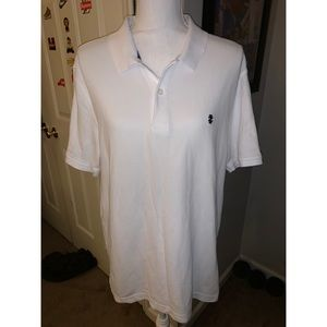 White iZod Button Up Collared Short Sleeve